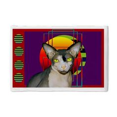 Pillow Case Sphynx Cat (purple)