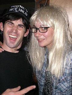 Wayne's World!! Shwiiing! #Couple #Halloween #Costume