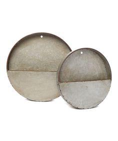 Look what I found on #zulily! Galvanized Round Tin Pocket Set #zulilyfinds