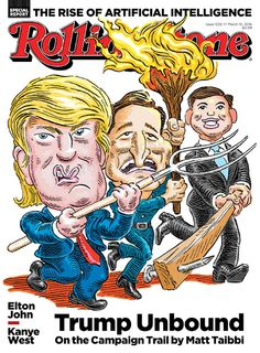 Magazine Cover: Rolling Stone, Issue 1256, March 10, 2016 - Donald Trump, Ted Cruze & Marco Rubio