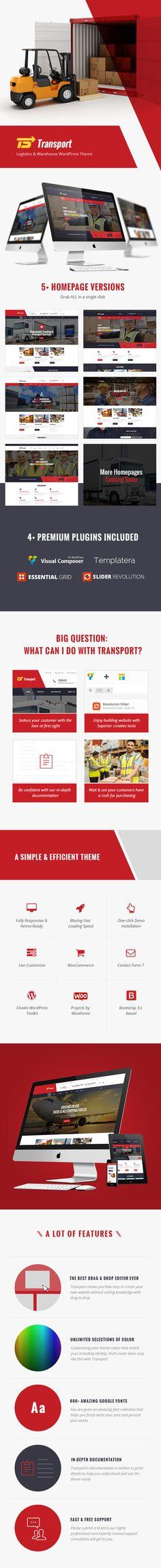 Transportation and Logistic WordPress Theme - Transport