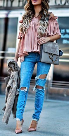 Pleated top off the shoulder
