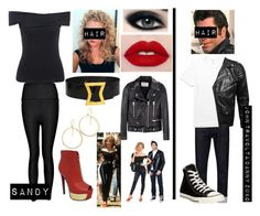 """""""Imagine- you and your boyfriend going as sandy and Danny from grease for Halloween"""" by afrankiewitz-1 ❤ liked on Polyvore featuring Boohoo, Chanel, Acne Studios, Polo Ralph Lauren, VIPARO and Converse"""