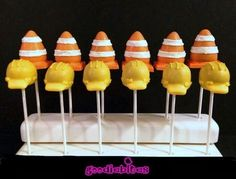 Construction Cone Cake Pops - Pint Sized Baker