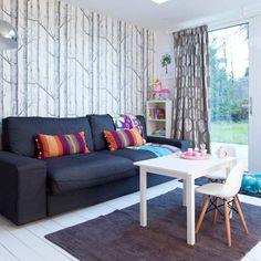 Living room with child's desk   Family living room design ideas   PHOTO GALLERY   Housetohome.co.uk
