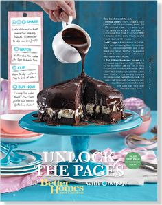 One-bowl chocolate cake - image clipped from page 12 of Better Homes and Gardens, Sep 2013 issue by the Netpage App. Yummy Treats, Delicious Desserts, Sweet Treats, Chocolate Cake Images, Cake Recipes, Dessert Recipes, Easter Treats, Gluten Free Desserts, Better Homes And Gardens