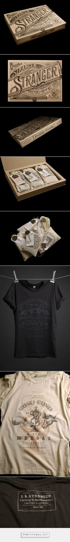 Vintage T-Shirt Packaging Design by Stranger & Stranger Web Design, Label Design, Packaging Design, Branding Design, Packaging Ideas, Vintage T-shirts, Vintage Labels, Vintage Designs, Vintage Ideas