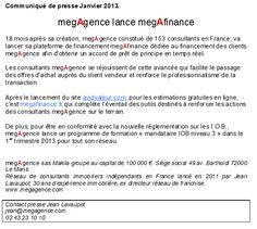 megAgence lance megAfinance !