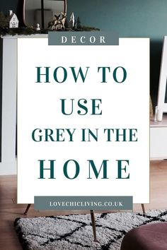 If you want ideas on how to use grey in your home, click through. Whether you want black and white ideas for a living room, grey with pops of colour, or with yellow, blue, pink and navy, find some inspiration in this home decor blog post. #lovechicliving #greyhome #blackandwhite Popular Bedroom Colors, Popular Paint Colors, Bedroom Color Schemes, Colour Schemes, Uk Homes, Living Room Grey, Decorating Blogs, Colorful Decor, Home Decor Inspiration