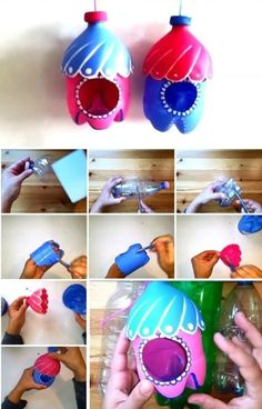 Plastic Bottle Bird Feeder Craft Video Tutorial