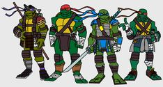 The final part of the project, all 4 turtles together. The Ninja Turtles Ninja Turtles Art, Teenage Mutant Ninja Turtles, Ninja Armor, Ninja Turtles Shredder, Turtles Forever, Tmnt Girls, Dragon Ball, Cartoon Turtle, Black Cartoon Characters