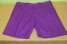 Men's ADIDAS GOLF  Flat Front Shorts Sz 40 - Purple #adidas #CasualShorts