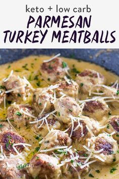 Dive in this recipe for ground turkey meatballs so good the kids will gobble them down. They are keto and low carb friendly checking off the boxes for you to cook a great healthy dinner for the family. They aren't baked but made on the stove top for a super easy and quick recipe. Recipes Using Ground Turkey, Healthy Ground Turkey, Grape Jelly Meatballs, Lunch Recipes, Healthy Dinner Recipes, Healthy Dinners, Health Recipes, Dishes Recipes, Cleanse Recipes