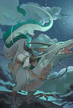 Spirited Away - Studio Ghibli / Hayao Miyazaki Manga Anime, Film Anime, Anime Art, Hayao Miyazaki, Studio Ghibli Films, Art Studio Ghibli, Totoro, Chihiro Y Haku, Howls Moving Castle