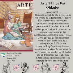 Arte T11 de Kei Ohkubo Renaissance, Livres