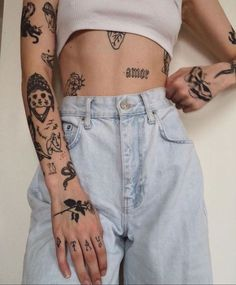 Dainty Tattoos, Dope Tattoos, Pretty Tattoos, Unique Tattoos, Body Art Tattoos, Small Tattoos, Sleeve Tattoos, Tatoos, Grunge Tattoo