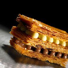 Valrhona : Millefeuilles, tarte chocolat noix caramel, entremets marron chocolat… de quoi se mettre du baume au cœur et se réchauffer !