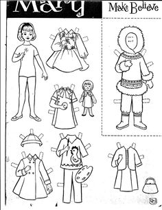 LDS Friend Magazine Paper Doll. From Older Friends magazine that did not make it imaged on to the friend magazine website now.