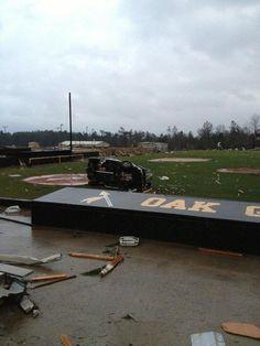 Oak Grove HS, Hattiesburg Tornado