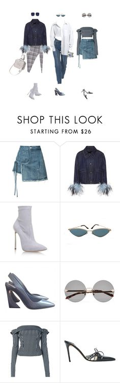 """o f f e r"" by littlewounds ❤ liked on Polyvore featuring Sandy Liang, Prada, Casadei, Karen Walker, Preen and Christian Dior"
