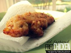 Old Fashioned Fried Chicken Recipe