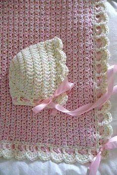 Ravelry: ZU - Tiramisu Baby Blanket A ༺✿Teresa Restegui… Baby Afghan Crochet, Crochet Baby Hats, Love Crochet, Diy Crochet, Crochet Crafts, Crochet Stitches, Baby Knitting, Crochet Projects, Crochet Patterns