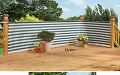Deck & Fence Privacy Netting Screen -Green Stripe #WMG