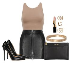 """""""Sem título #426"""" by cecebay ❤ liked on Polyvore featuring T By Alexander Wang, Jimmy Choo, Miu Miu, Boohoo, Cartier and Bobbi Brown Cosmetics"""