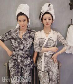 Zhao Liying and Li Bingbing cover fashion magazine | China Entertainment News Li Bingbing, Zhao Li Ying, Chinese Actress, Actors & Actresses, Jumpsuit, Magazine, Vintage, Dresses, Cosmo