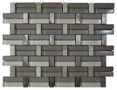 """Glossy Pink and Black & Brown Marble & Silver Aluminum Authentic Glass Mosaic Sheet Size: 14"""" x 10 3/4"""" x 3/8"""" Tile Size: Randoms Type: Glass, Stone, Aliminum Finished: Glossy, Matte, Polished HTCMS11"""