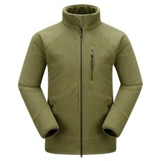 Winter Outdoor Sport Fleece Thick Multi-Pocket Stand Collar Coat For Men - Gchoic.com