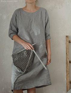 Vestido túnica de lino / delantal El vestido túnica cómodo hecho a mano de lino puro lavado. Ideal para el desgaste diario. Cada elemento se corta individualmente y cosido por orden, especialmente para usted. Hecho a mano, artículos de calidad llevará tiempo, aproximadamente.2-4