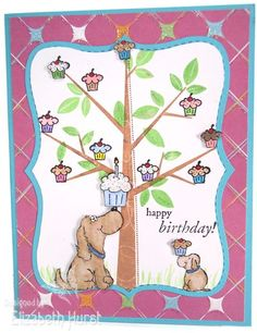 Cupcake Tree by beadsonthebrain