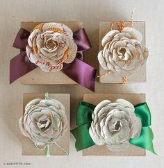DIY Sentiment Flower Toppers