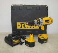 "Dewalt DC940 XRP 1 2"" 12V Cordless Drill Driver 2 Batteries Charger Case   eBay"