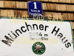 for sale sign on high mountain in tirol alps
