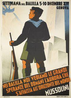 C. M. Settimana del Balilla 5–10 Dicembre XIV Genova (Balilla youth movement week, December 5–10, 1936 Genoa). 1935