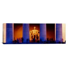 """East Urban Home Panoramic Lincoln Memorial, Washington, D.C. Photographic Print on Canvas Size: 20"""" H x 60"""" W x 0.75"""" D"""