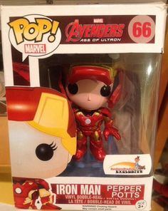 Funko Pop Custom Made Pepper Potts Unmasked Iron Man Suit Vinyl Figure Marvel in Collectibles, Pinbacks, Bobbles, Lunchboxes, Bobbleheads, Nodders | eBay