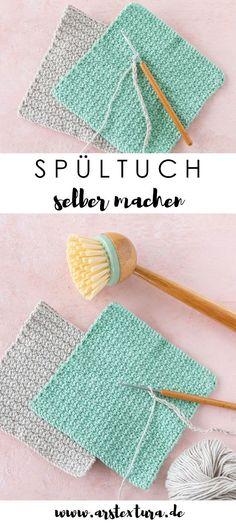 Crochet Dishcloths, Crochet Hats, Diy Crochet, Art Minecraft, Textiles, Diy Blog, Knitting Needles, Free Pattern, Knitting Patterns