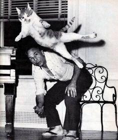 George Balanchine with his cat, Murka