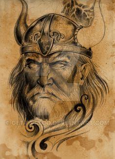 Old viking tattoo design by gettattoo.deviantart.com on @DeviantArt