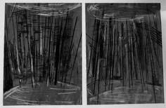 Der Himmel, das Wald, die Erde. © Lex Hamers 2006 Drawing on paper 30 x 40 cm. 2 x