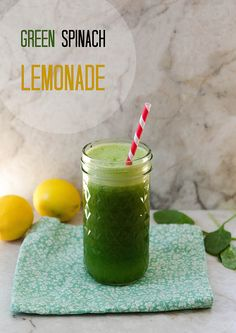 Green Spinach Lemonade // soletshangout.com