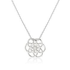 Minimalistyczny naszyjnik z ażurowym logo La Tienne wykonany z rodowanego srebra próby 925 #necklace #latienne #logo #delicate