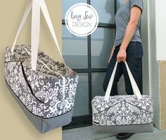 Stylin' Damask & Canvas Duffle: Fabric Depot | Sew4Home Nice tutorial - may need to find this place next time I visit Portland.