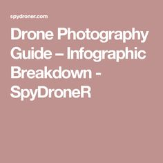 Drone Photography Guide – Infographic Breakdown - SpyDroneR