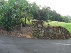 driveway entrance pillars   Rock Pillar - Entrance