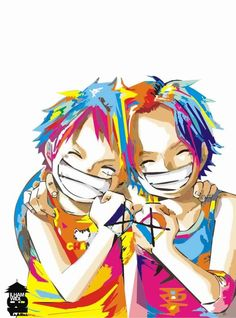 Ace and Luffy  _One Piece