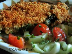 Dishin with Didi: Breaded Baked Chicken Florentine Casserole